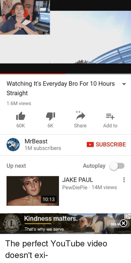 Watching It's Everyday Bro For 10 Hours Straight 16M Views