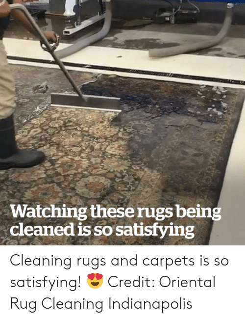 satisfying: Watching theserugs being  cleaned is so satisfying  otuon Cleaning rugs and carpets is so satisfying! 😍  Credit: Oriental Rug Cleaning Indianapolis