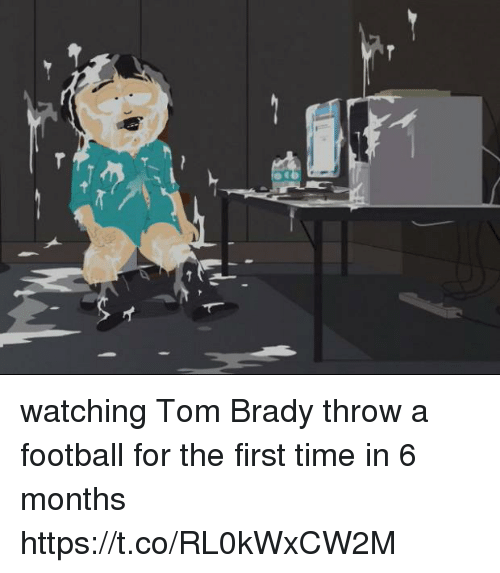 Football, Tom Brady, and Time: watching Tom Brady throw a football for the first time in 6 months https://t.co/RL0kWxCW2M