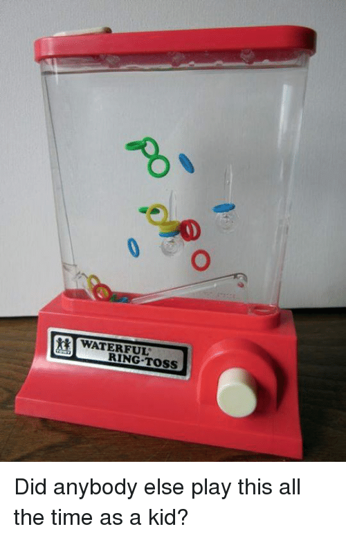 ring toss: WATER FUL  RING TOSS Did anybody else play this all the time as a kid?