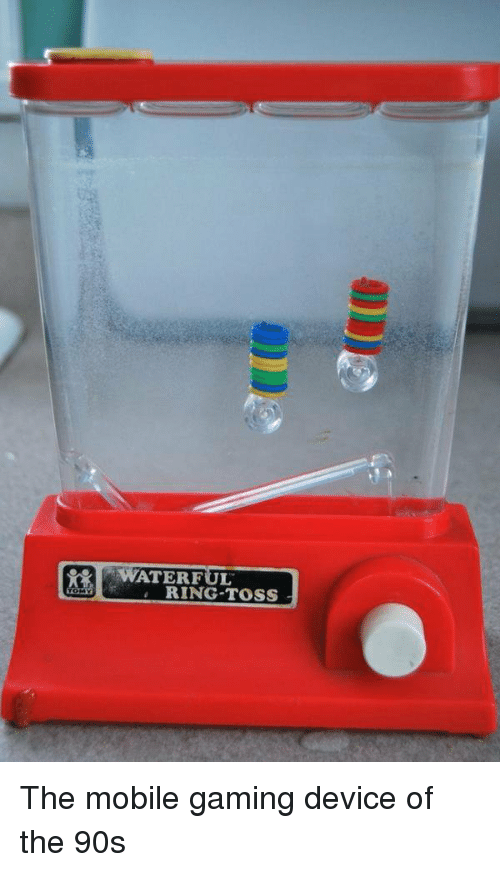ring toss: WATERFUL  RING TOSS The mobile gaming device of the 90s