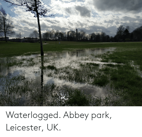 Leicester: Waterlogged. Abbey park, Leicester, UK.