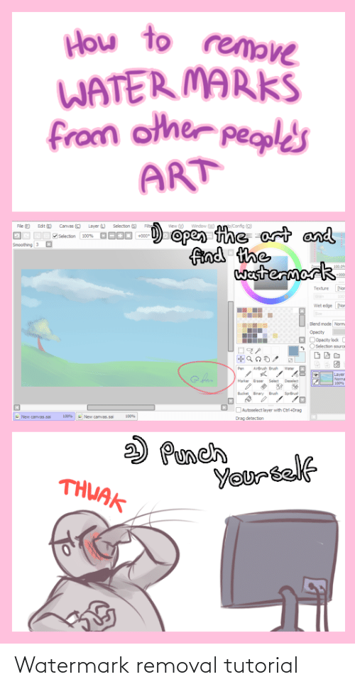 watermark: Watermark removal tutorial