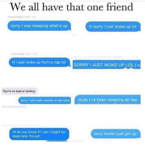 Bad dude and friends we all have that one friend sorry i was