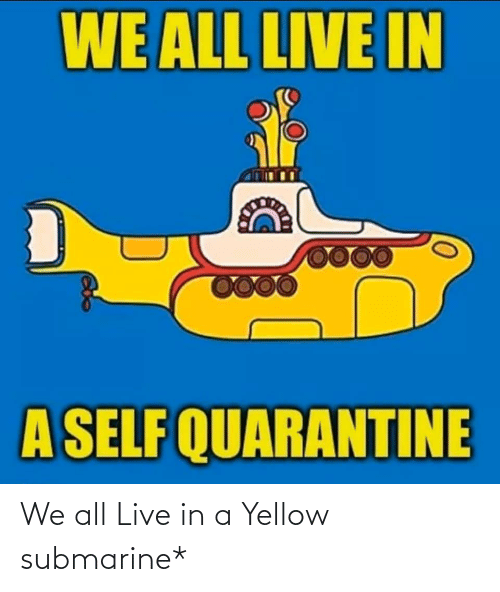 submarine: We all Live in a Yellow submarine*