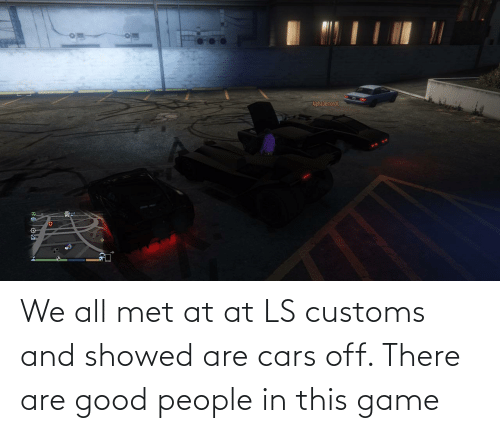 AT-AT: We all met at at LS customs and showed are cars off. There are good people in this game
