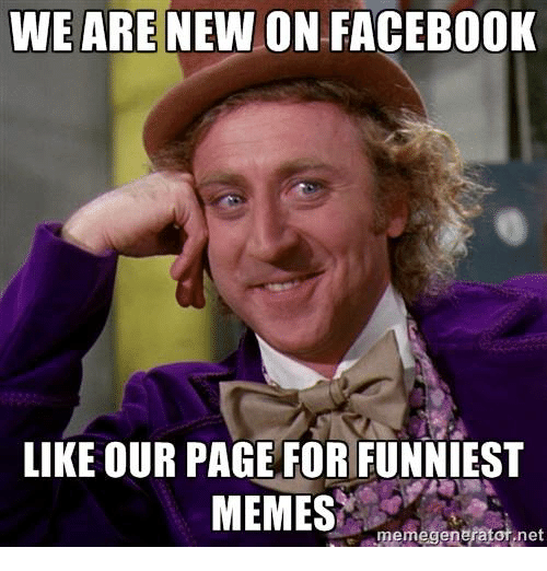 Funny Meme Facebook Pages : We are new on facebook like our page for funniest memes