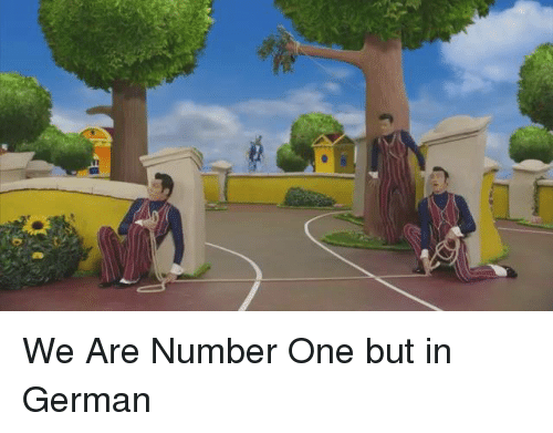 Dank, Germanic, and 🤖: We Are Number One but in German