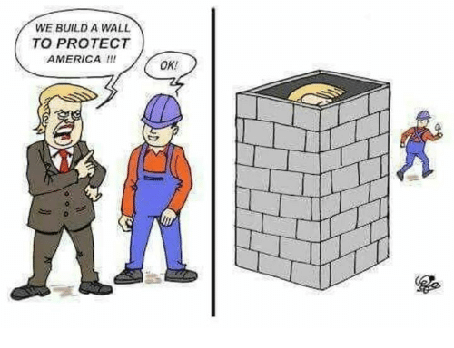 Build A Wall: WE BUILD A WALL  TO PROTECT  AMERICA  OK!
