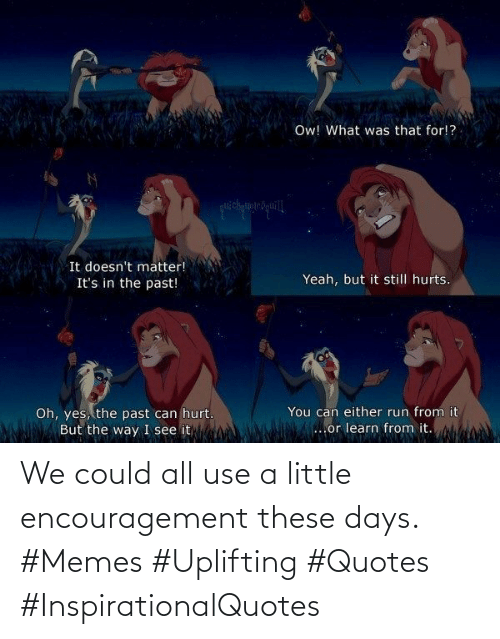 Quotes: We could all use a little encouragement these days. #Memes #Uplifting #Quotes #InspirationalQuotes