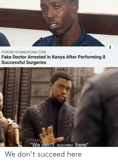 succeed: We don't succeed here