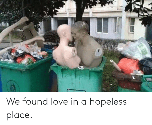 We Found Love: We found love in a hopeless place.