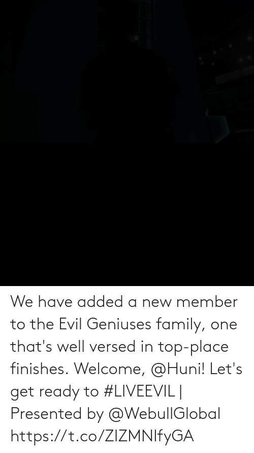 Evil: We have added a new member to the Evil Geniuses family, one that's well versed in top-place finishes.  Welcome, @Huni!   Let's get ready to #LIVEEVIL   Presented by @WebullGlobal https://t.co/ZIZMNIfyGA