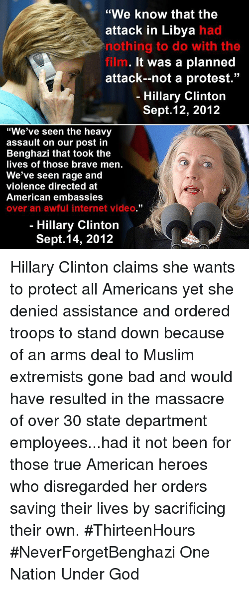 Hillary clinton claims she wants to protect all americans yet she