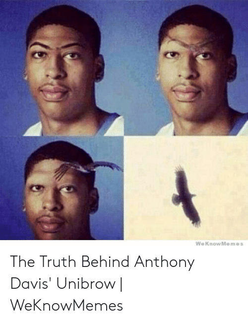Davis Unibrow: We KnowMemes The Truth Behind Anthony Davis' Unibrow | WeKnowMemes