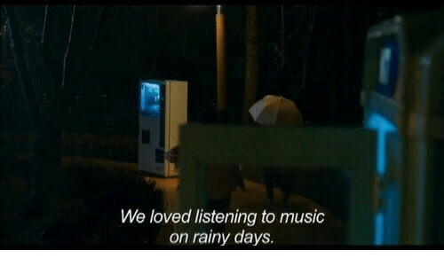 rainy: We loved listening to music  on rainy days.