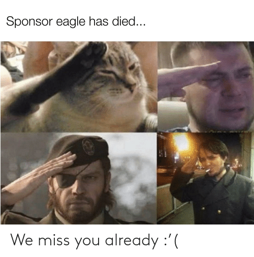 We Miss You: We miss you already :'(