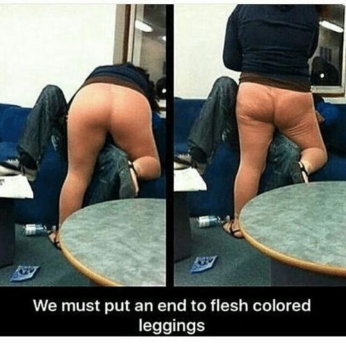 Flesh Colored Leggings: We must put an end to flesh colored  leggings