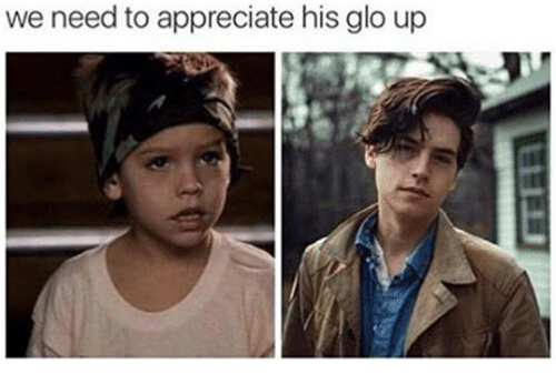 Glo up: we need to appreciate his glo up