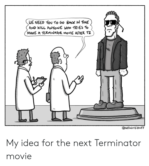 Terminator: WE NEED You To Go BacK IN IME  AND kllL ANYONE WHo TRIES To  MAKE A TERMINATOR MoVIE AFTER T2 My idea for the next Terminator movie