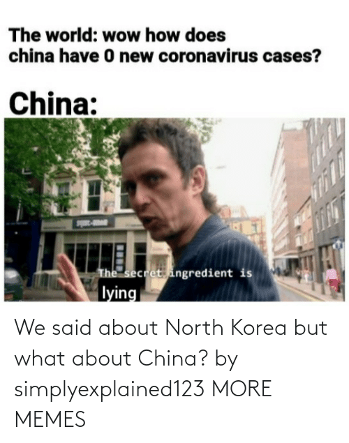 korea: We said about North Korea but what about China? by simplyexplained123 MORE MEMES
