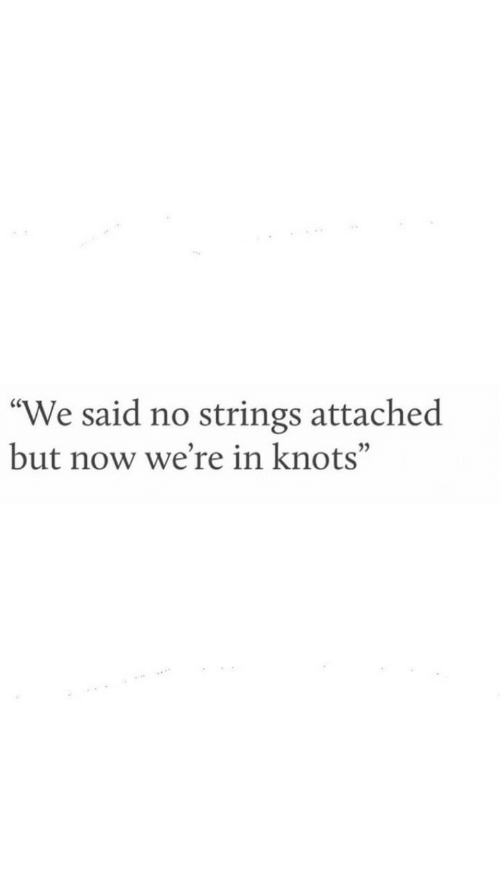 "Knots: ""We said no strings attached  but now we're in knots"""
