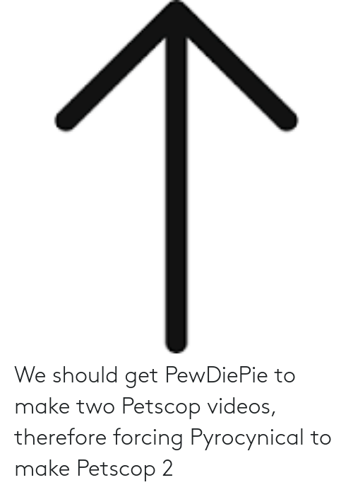 Pyrocynical: We should get PewDiePie to make two Petscop videos, therefore forcing Pyrocynical to make Petscop 2