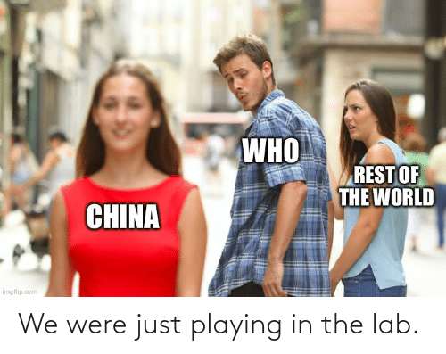 Lab: We were just playing in the lab.