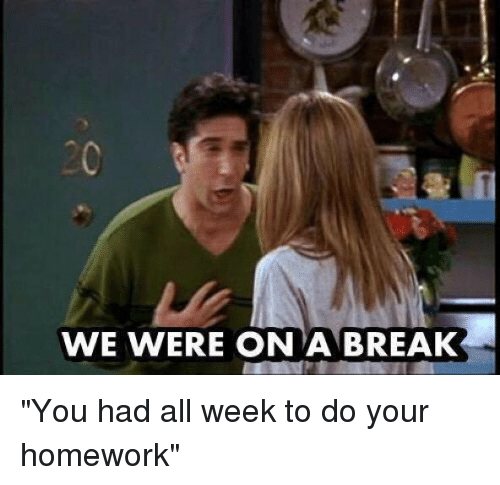 homework over break essay Why teachers shouldn't give homework over breaks january 11, 2010 by giving homework over the breaks, teachers are stuck grading worksheets and papers for at least a week after the breakwho likes that all teachers out there.