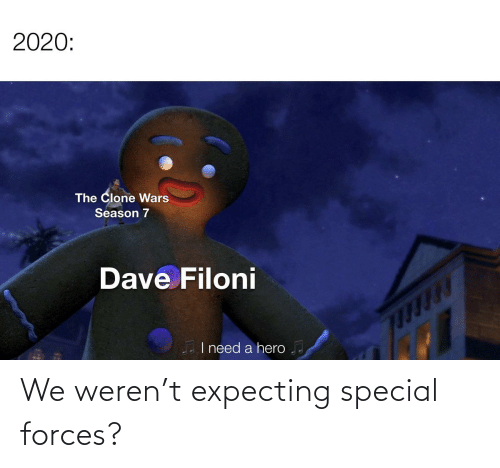 special forces: We weren't expecting special forces?