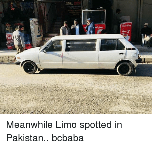 limo: WEB  FON Meanwhile Limo spotted in Pakistan.. bcbaba