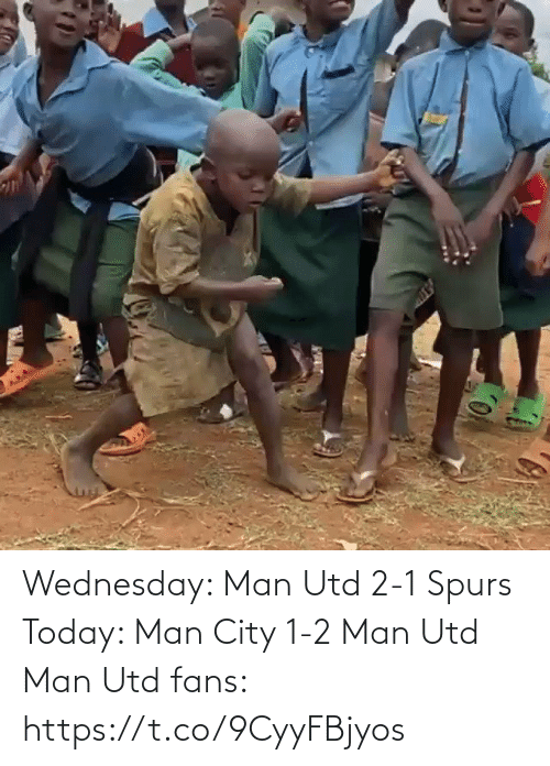 man utd: Wednesday: Man Utd 2-1 Spurs   Today: Man City 1-2 Man Utd  Man Utd fans:  https://t.co/9CyyFBjyos