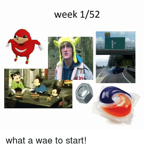 Dank Memes, What, and What A: week 1/52 what a wae to start!