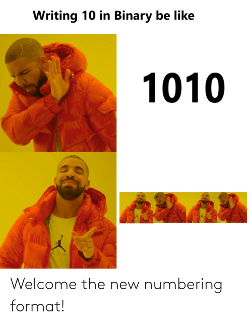 The New: Welcome the new numbering format!