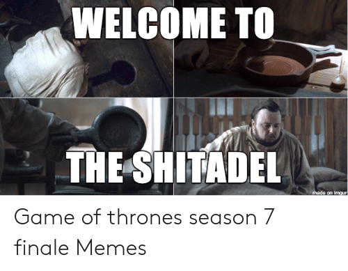 7 Finale: WELCOME TO  THE SHITADEL  made on imgur Game of thrones season 7 finale Memes