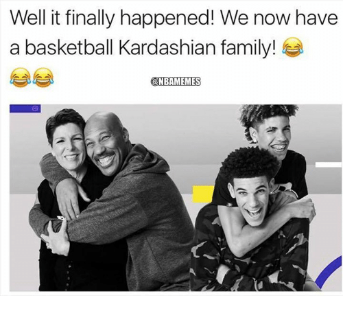 Basketball, Family, and Nba: Well it finally happened! We now have  a basketball Kardashian family!  @NBAMEMES