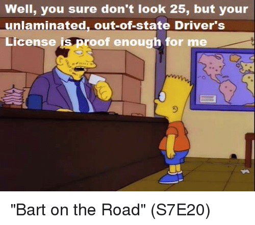 The Worst Out Of State Drivers In Your State: Funny Bart Memes Of 2017 On SIZZLE