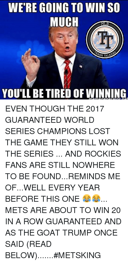 were going to win so muciho sh talk youll be 25432908 🔥 25 best memes about world series champions world series