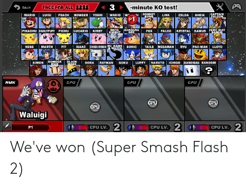super smash: We've won (Super Smash Flash 2)
