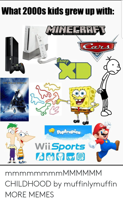 poptropica: What 2000s kids grew up with:  MINELRAFT  ars  ENEY  OMHANKS  THE POLAR EXPRESS  Poptropica  WiiSports mmmmmmmmMMMMMM CHILDHOOD by muffinlymuffin MORE MEMES