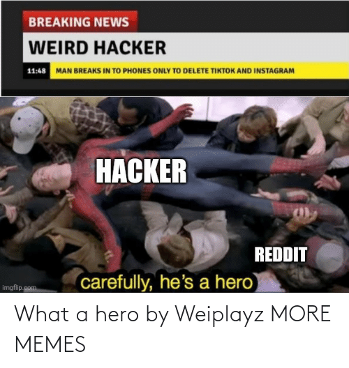 a hero: What a hero by Weiplayz MORE MEMES