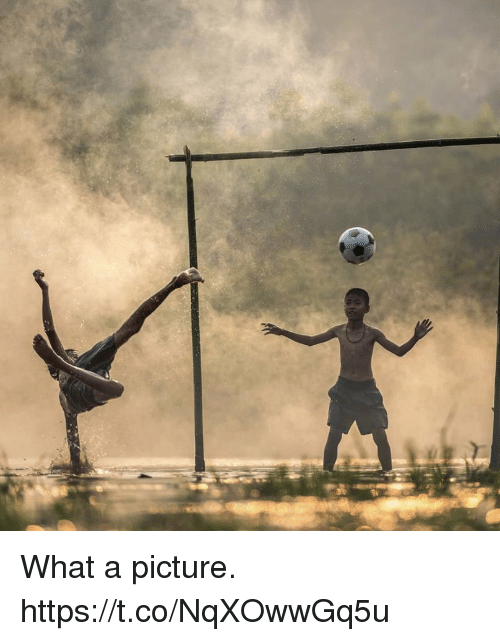 Soccer, A Picture, and Picture: What a picture. https://t.co/NqXOwwGq5u