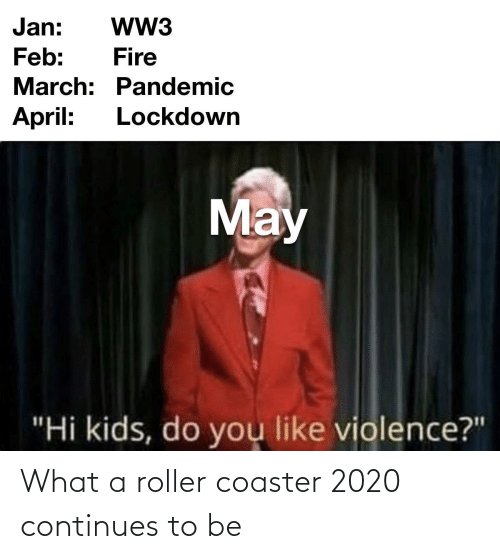 roller coaster: What a roller coaster 2020 continues to be