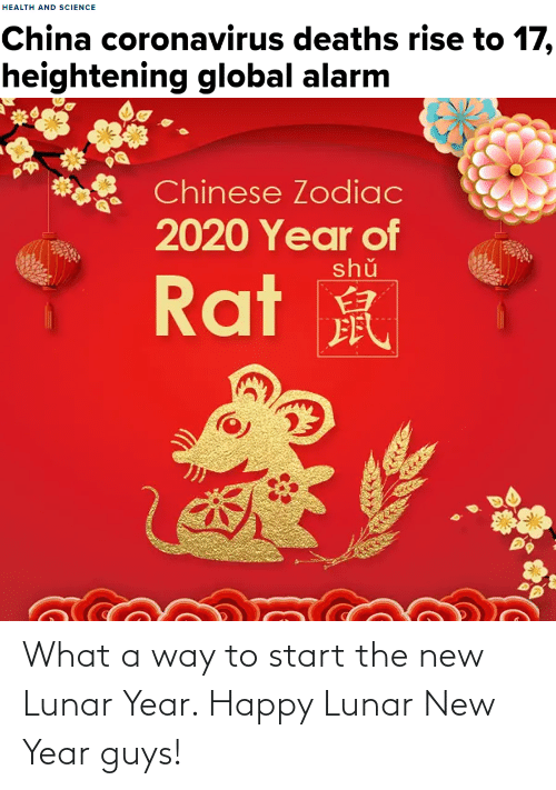 lunar new year: What a way to start the new Lunar Year. Happy Lunar New Year guys!