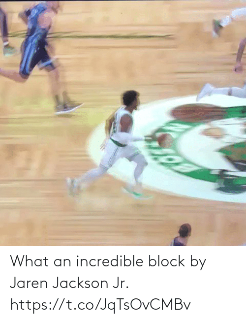 block: What an incredible block by Jaren Jackson Jr. https://t.co/JqTsOvCMBv