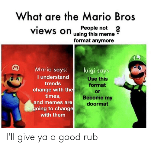 What Are The Mario Bros People Not 2 Views On Using This