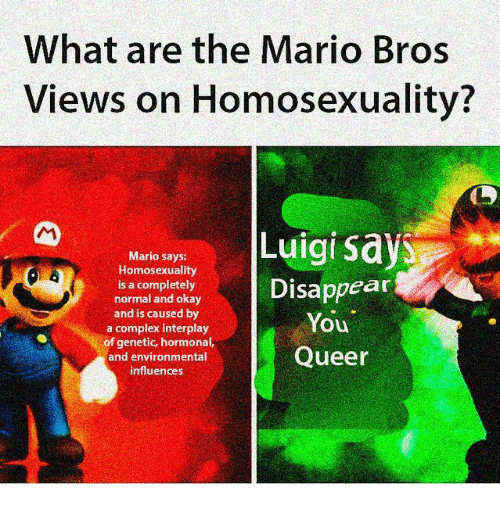 What Are The Mario Bros Views On Homosexuality Mario Says