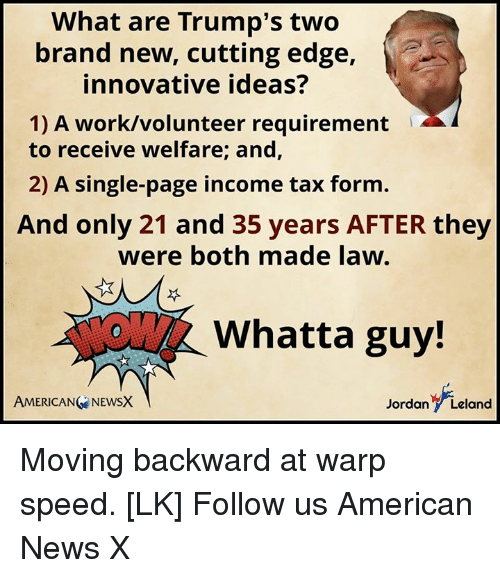 What Are Trump's Two Brand New Cutting Edge Innovative