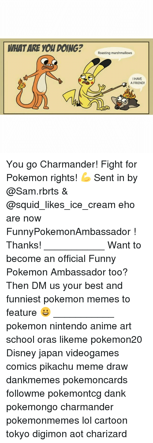 Pokemongo: WHAT ARE YOU DOING?ating nanmalon  I HAVE  A FRIEND You go Charmander! Fight for Pokemon rights! 💪 Sent in by @Sam.rbrts & @squid_likes_ice_cream eho are now FunnyPokemonAmbassador ! Thanks! ___________ Want to become an official Funny Pokemon Ambassador too? Then DM us your best and funniest pokemon memes to feature 😀 ___________ pokemon nintendo anime art school oras likeme pokemon20 Disney japan videogames comics pikachu meme draw dankmemes pokemoncards followme pokemontcg dank pokemongo charmander pokemonmemes lol cartoon tokyo digimon aot charizard