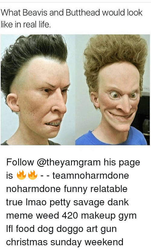 Beavis And Buttheads: What Beavis and Butthead would look  like in real life. Follow @theyamgram his page is 🔥🔥 - - teamnoharmdone noharmdone funny relatable true lmao petty savage dank meme weed 420 makeup gym lfl food dog doggo art gun christmas sunday weekend